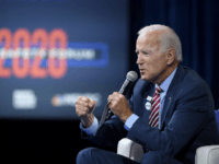 Democratic presidential candidate, former U.S Vice President Joe Biden speaks during the 2020 Gun Safety Forum hosted by gun control activist groups Giffords and March for Our Lives at Enclave on October 2, 2019 in Las Vegas, Nevada. Nine Democratic candidates are taking part in the forum to address gun …