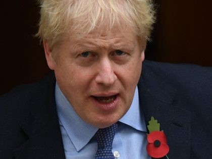 Britain's Prime Minister Boris Johnson leaves 10 Downing street in London on October 30, 2019 to take part in Prime Minister Question (PMQ) session in the House of Commons. - Britain's political leaders tested their election pitches today after parliament backed Prime Minister Boris Johnson's bid for a pre-Christmas poll …