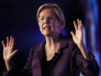 Democratic presidential candidate Sen. Elizabeth Warren (D-MA) speaks at the SEIU Unions for All Summit on October 4, 2019 in Los Angeles, California. At least eight Democratic Presidential candidates were scheduled to speak today and tomorrow at the summit. The presidential primary in California will be held on March 3, …