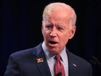Former vice president Joe Biden speaks to guests at the United Food and Commercial Workers' (UFCW) 2020 presidential candidate forum on October 13, 2019 in Altoona, Iowa. With 1.3 million members the UFCW is America's largest private sector union. The 2020 Iowa Democratic caucuses will take place on February 3, …