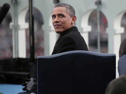 WASHINGTON, DC - JANUARY 21: U.S. President Barack Obama sits during the presidential inauguration on the West Front of the U.S. Capitol January 21, 2013 in Washington, DC. Barack Obama was re-elected for a second term as President of the United States. (Photo by Win McNamee/Getty Images)