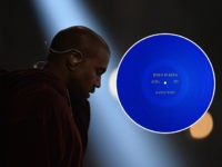 Kanye West performs on stage at the 57th Annual Grammy Awards in Los Angeles February 8, 2015. AFP PHOTO/ROBYN BECK (Photo credit should read ROBYN BECK/AFP/Getty Images)
