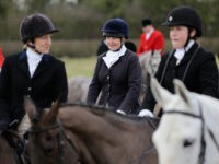 BOSWORTH, ENGLAND - MARCH 05: The Hounds and Horses of the Atherstone Hunt set out on a hunt on March 5, 2015 in Bosworth, England. The hunt is celebrating its bicentenary this year and today's commemorative hunt started from Bosworth. The hunt continues it's tradition with members paying a subscription …