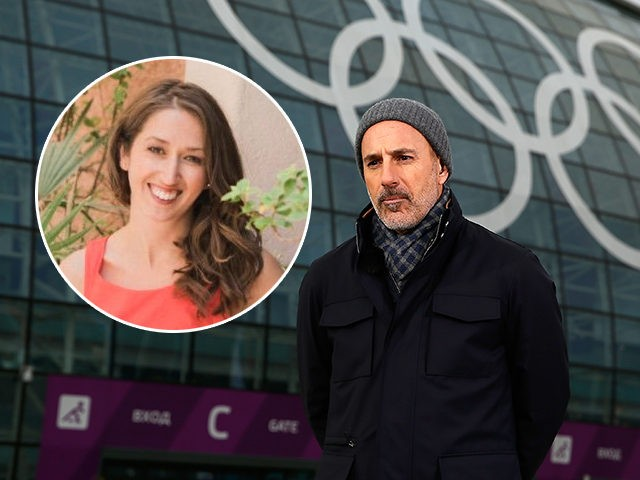 (INSET: Brooke Nevils) SOCHI, RUSSIA - FEBRUARY 05: (BROADCAST-OUT) Matt Lauer reports for the NBC Today show in the Olympic Park ahead of the Sochi 2014 Winter Olympics on February 5, 2014 in Sochi, Russia. (Photo by Scott Halleran/Getty Images)
