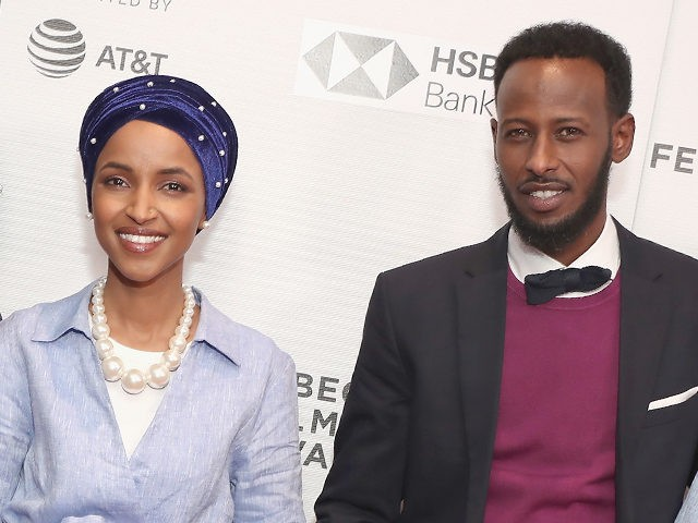 """NEW YORK, NY - APRIL 21: Amal Sabrie, Isra Hirsi, Ilhan Omar, Ilwad Hirsi, Ahmed Hirsi, Adnan Hirsi attend the premiere of """"Time For Ilhan"""" during the 2018 Tribeca Film Festival at Cinepolis Chelsea on April 21, 2018 in New York City. (Photo by Astrid Stawiarz/Getty Images for Tribeca Film …"""