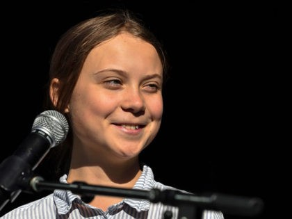 MONTREAL, QC - SEPTEMBER 27: Swedish climate activist Greta Thunberg takes to the podium to address young activists and their supporters during the rally for action on climate change on September 27, 2019 in Montreal, Canada. Hundreds of thousands of people are expected to take part in what could be …