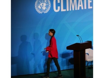 NEW YORK, NEW YORK - SEPTEMBER 23: Greta Thunberg attends the United Nations (UN) Climate Action Summit on September 23, 2019 in New York City. While the United States will not be participating in the day long event, China and about 70 other countries are expected to make announcements concerning …