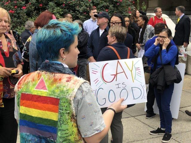 LGBTQ Rally outside SCOTUS