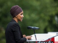WASHINGTON, DC - SEPTEMBER 26: U.S. Rep. Ilhan Omar (D-MN) speaks at a rally hosted by Progressive Democrats of America on Capitol Hill on September 26, 2019 in Washington, DC. House Speaker Nancy Pelosi (D-CA) announced yesterday the beginning of a formal impeachment inquiry against President Donald Trump. (Photo by …