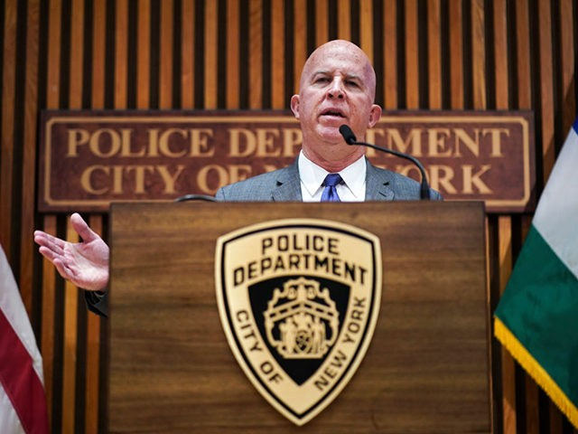 NEW YORK, NY - AUGUST 19: New York City Police Commissioner James O'Neill speaks during a press conference to announce the termination of officer Daniel Pantaleo on August 19, 2019 in New York City. Officer Pantaleo has been fired from the NYPD after his involvement in a chokehold related death …