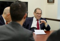 NEW YORK, NEW YORK - OCTOBER 02: District Advocates meet w/ Rep. Jerry Nadler on October 02, 2019 in New York City. (Photo by Rob Kim/Getty Images for The Recording Academy)
