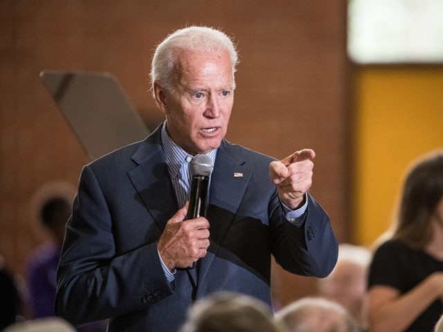 FLORENCE, SC - OCTOBER 26: Democratic presidential candidate, former vice President Joe Biden addresses a crowd at Wilson High School on October 26, 2019 in Florence, South Carolina. Many presidential hopefuls campaigned in the early primary state over the weekend, scheduling stops around a criminal justice forum in the state …