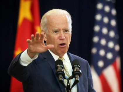 U.S. Vice President Joseph Biden delivers remarks during the joint opening session of the Strategic and Economic Dialogue (S&ED), and Consultation on People-to-People Exchange (CPE) June 23, 2015 at the State Department in Washington, DC. Officials from both countries participated in the seventh annual U.S. Ð China Strategic and Economic …
