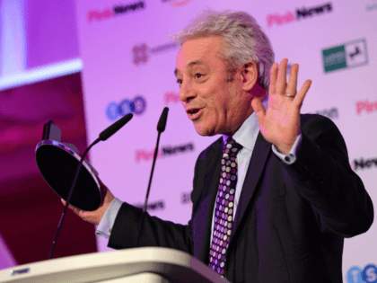 LONDON, ENGLAND - OCTOBER 16: John Bercow accepting the Special Award at the PinkNews Awards 2019 at The Church House on October 16, 2019 in London, England. (Photo by Eamonn M. McCormack/Getty Images)