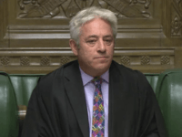 Speaker of Britain's House of Commons John Bercow makes a statement in the House of Commons in London whether Government can hold a debate and vote on the Brexit deal with Europe, Monday Oct. 21, 2019. The government request for a meaningful vote inside the House of Commons is rejected …