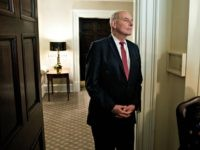 White House Chief of Staff John Kelly listens as President Donald Trump speaks during a meeting with newly elected governors in the Cabinet Room of the White House, Thursday, Dec. 13, 2018, in Washington. Trump's hunt for a new chief of staff has taken on the feel of a reality …