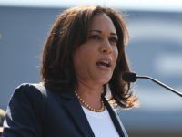 Democratic presidential hopeful Senator Kamala Harris speaks at a Labor Day rally for healthcare workers and supports, September 2, 2019 in Los Angeles, California. (Photo by Robyn Beck / AFP) (Photo credit should read ROBYN BECK/AFP/Getty Images)