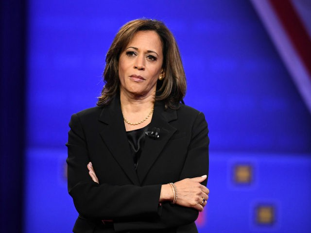 Democratic presidential hopeful California Senator Kamala Harris listens to a question during a town hall devoted to LGBTQ issues hosted by CNN and the Human rights Campaign Foundation at The Novo in Los Angeles on October 10, 2019. (Photo by Robyn Beck / AFP) (Photo by ROBYN BECK/AFP via Getty …
