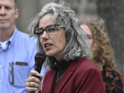 Former state lawmaker Kathleen Williams announces her candidacy for Montana's U.S. House seat at a rally in Billings, Mont. on Friday, April 5, 2019. Incumbent Republican Rep. Greg Gianforte has not yet announced if he'll seek another term. The move comes just five months after the Democrat lost to incumbent …