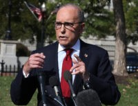 WASHINGTON, DC - OCTOBER 07: White House Chief Economic Adviser, Larry Kudlow speaks to the media about President Trump's trade agenda, on October 7, 2019 in Washington, DC. (Photo by Mark Wilson/Getty Images)