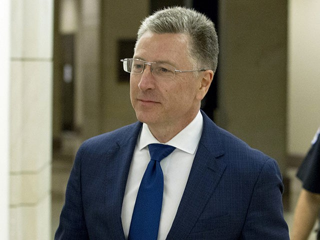 FILE - In this Oct. 3, 2019 file photo, Kurt Volker, a former special envoy to Ukraine, leaves a closed-door interview with House investigators as House Democrats proceed with the impeachment investigation of President Donald Trump, at the Capitol in Washington. In a statement Monday, Oct. 7 issued by the …