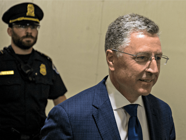 WASHINGTON, DC - OCTOBER 03: Former Special Envoy to Ukraine Kurt Volker departs following a closed-door deposition led by the House Intelligence Committee on Capitol Hill on October 3, 2019 in Washington, DC. Volker resigned from his position on September 27. (Photo by Zach Gibson/Getty Images)