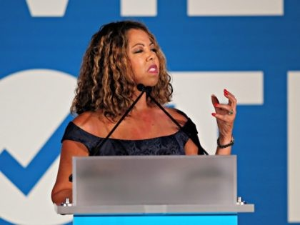 Rep. Lucy McBath, D-Ga., speaks during the I Will Vote Fundraising Gala Thursday, June 6, 2019, in Atlanta. (AP Photo/John Bazemore)