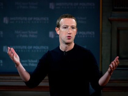 Mark Zuckerberg of Facebook speaks at Georgetown