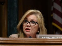 WASHINGTON, DC - APRIL 10: Sen. Marsha Blackburn (R-TN) speaks at a Senate Judiciary Committee hearing on April 10, 2019 in Washington, DC. The Republican-controlled Senate Judiciary Committee is questioning whether large tech companies are biased towards conservatives. (Photo by Alex Wroblewski/Getty Images)