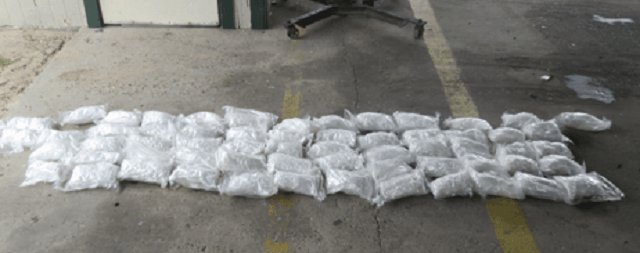 Border Patrol agents seize 75 pounds of methamphetamine at the Javier Vega, Jr. Checkpoint. (Photo: U.S. Border Patrol/Rio Grande Valley Sector)
