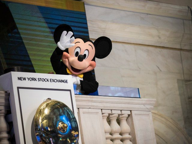 Mickey Mouse at Disney NYSE bell ringing