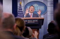 WASHINGTON, DC - OCTOBER 17: Acting White House Chief of Staff Mick Mulvaney answers questions during a briefing at the White House October 17, 2019 in Washington, DC. Mulvaney answered a range of questions relating to the issues surrounding the impeachment inquiry of U.S. President Donald Trump, and other issues …