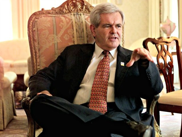 House Speaker Newt Gingrich of Ga. talks with three Associated Press reporters at a Washington hotel Thursday April 2, 1998 in Washington. Gingrich said the dismissal of a sexual harassment lawsuit against President Clinton will have no impact on House preparations for possible impeachment. Gingrich was interviewed as part of …