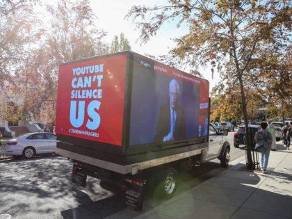 PragerU truck in Silicon Valley