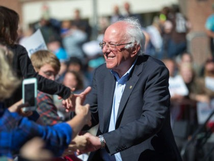PLYMOUTH, NH - SEPTEMBER 29: Democratic presidential candidate, Sen. Bernie Sanders (I-VT) shakes hands with supporters following his event at Plymouth State University on September 29, 2019 in Plymouth, New Hampshire. (Photo by Scott Eisen/Getty Images)