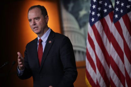 WASHINGTON, DC - OCTOBER 15: U.S. House Intelligence Committee Chairman Rep. Adam Schiff (D-CA) speaks during a news conference at the U.S. Capitol October 15, 2019 in Washington, DC. Speaker of the House Rep. Nancy Pelosi (D-CA) said she is holding off on a full House vote to authorize an …