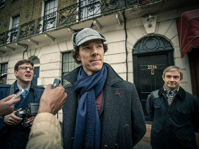 Martin Freeman and Benedict Cumberbatch in Sherlock (2010) Titles: Sherlock, The Empty Hearse People: Martin Freeman, Benedict Cumberbatch Photo by Robert Viglasky - © Robert Viglasky Photography