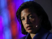 "Former National Security Advisor Susan Rice speaks at the J Street 2018 National Conference April 16, 2018 in Washington, DC. Rice spoke on the topic of ""The Dangers of U.S. Foreign Policy Under Trump"". (Photo by Win McNamee/Getty Images)"