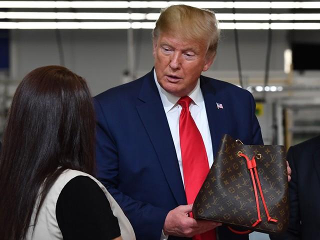 Left-wing Website Urges Louis Vuitton Boycott After Trump Visits Texas Factory