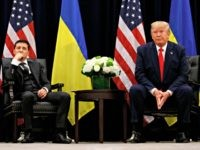 President Donald Trump meets with Ukrainian President Volodymyr Zelenskiy at the InterContinental Barclay New York hotel during the United Nations General Assembly, Wednesday, Sept. 25, 2019, in New York. (AP Photo/Evan Vucci)