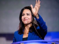 COLUMBIA, SC - JUNE 22: Democratic presidential candidate Rep. Tulsi Gabbard (R-HI) addresses the crowd during the 2019 South Carolina Democratic Party State Convention on June 22, 2019 in Columbia, South Carolina. Democratic presidential hopefuls are converging on South Carolina this weekend for a host of events where the candidates …