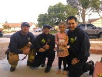 Firefighters from the Ventura County Fire Department went above and beyond their call of duty when they visited a little girl on her birthday while her father was off battling the Getty Fire in southern California.