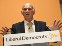 LONDON, ENGLAND - JULY 20: New Liberal Democrats party leader Vince Cable holds a press conference at the St Ermin's Hotel on July 20, 2017 in London, England. The Liberal Democrats have announced Vince Cable as their new party leader. Previously Secretary of State for Business, innovation and Skills under …