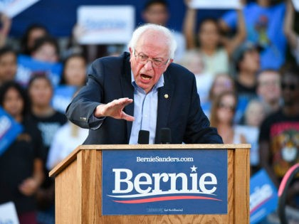 DENVER, CO - SEPTEMBER 09: Democratic presidential candidate Sen. Bernie Sanders (I-VT) speaks to supporters at a rally at Civic Center Park on September 9, 2019 in Denver, Colorado. (Photo by Michael Ciaglo/Getty Images)