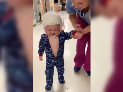 WATCH: NH Boy Walks for First Time After Major Skull Surgery