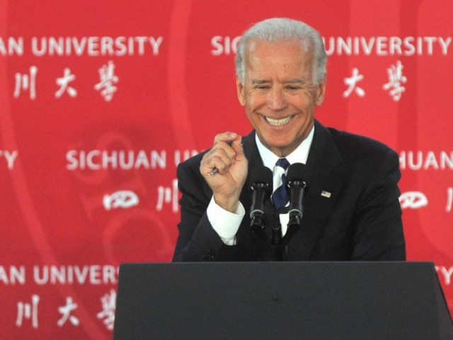CHENGDU, CHINA - AUGUST 21: (CHINA OUT) U.S. Vice President Joe Biden lectures at Sichuan University during his visit to China on August 21, 2011 in Chengdu, Sichuan Province of China. The Vice President is on a four-day visit to China during which he is focusing on discussions over concerns …