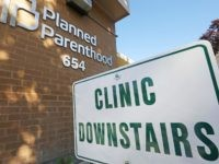 In this Aug. 21, 2019, file photo, a sign is displayed at Planned Parenthood of Utah in Salt Lake City. An appeals court is considering whether to block a Trump administration rule that bans taxpayer-funded health clinics from referring patients for an abortion, a rule that has already prompted many …