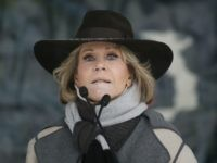 Actress Jane Fonda speaks at the Respect Rally Park City during the 2018 Sundance Film Festival on Saturday, Jan. 20, 2018, in Park City, Utah. (Photo by Danny Moloshok/Invision/AP)