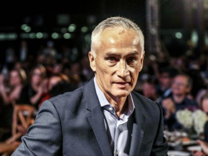 Mexican journalist Jorge Ramos looks on before receiving the excellence award at the Gabriel Garcia Marquez journalism awards in Medellin, on September 29, 2017. / AFP PHOTO / JOAQUIN SARMIENTO (Photo credit should read JOAQUIN SARMIENTO/AFP/Getty Images)