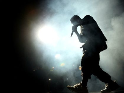 LAS VEGAS, NV - SEPTEMBER 18: Musician Kanye West performs onstage at the 2015 iHeartRadio Music Festival at MGM Grand Garden Arena on September 18, 2015 in Las Vegas, Nevada. (Photo by Kevin Winter/Getty Images for iHeartMedia)